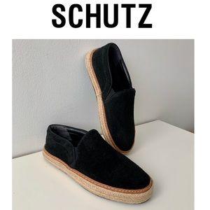 SCHUTZ Loafers Flats Shoes Leather Espadrilles SZ9